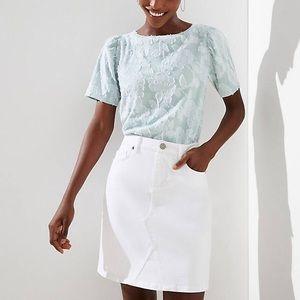 NWT! The Loft White Denim Skirt